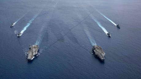 """Un informe denuncia una actividad sin precedentes de EE.UU. en el mar de la China Meridional, con maniobras """"muy orientadas al combate"""""""