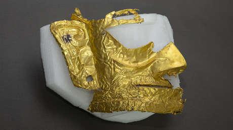 Hallan en China una máscara de oro de una misteriosa civilización de hace 3.000 años (FOTO, VIDEO)