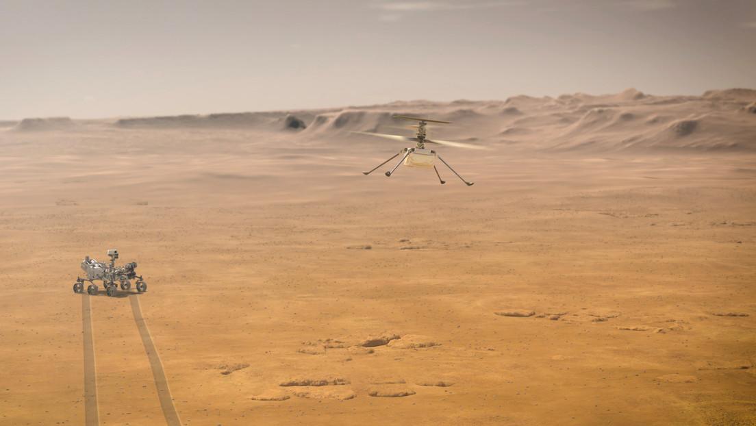 La NASA muestra el despliegue de su helicóptero Ingenuity en Marte, antes de su primer vuelo (IMÁGENES)