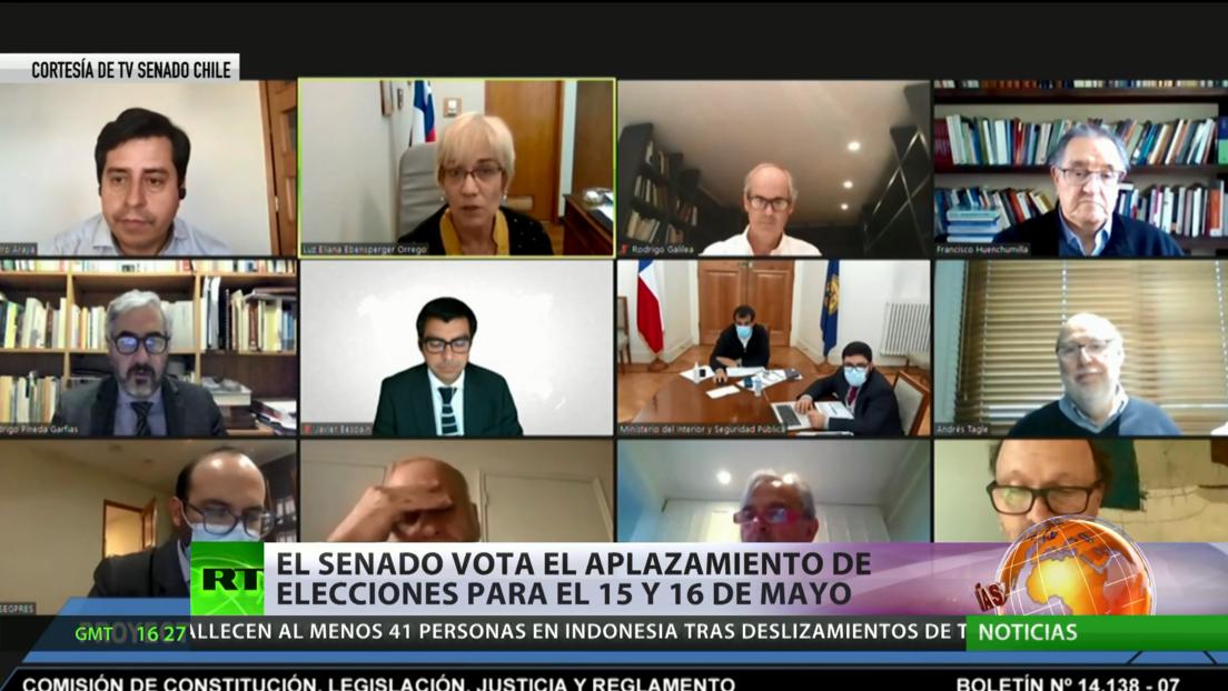 El Senado de Chile vota el aplazamiento de las elecciones a los días 15 y 16 de mayo