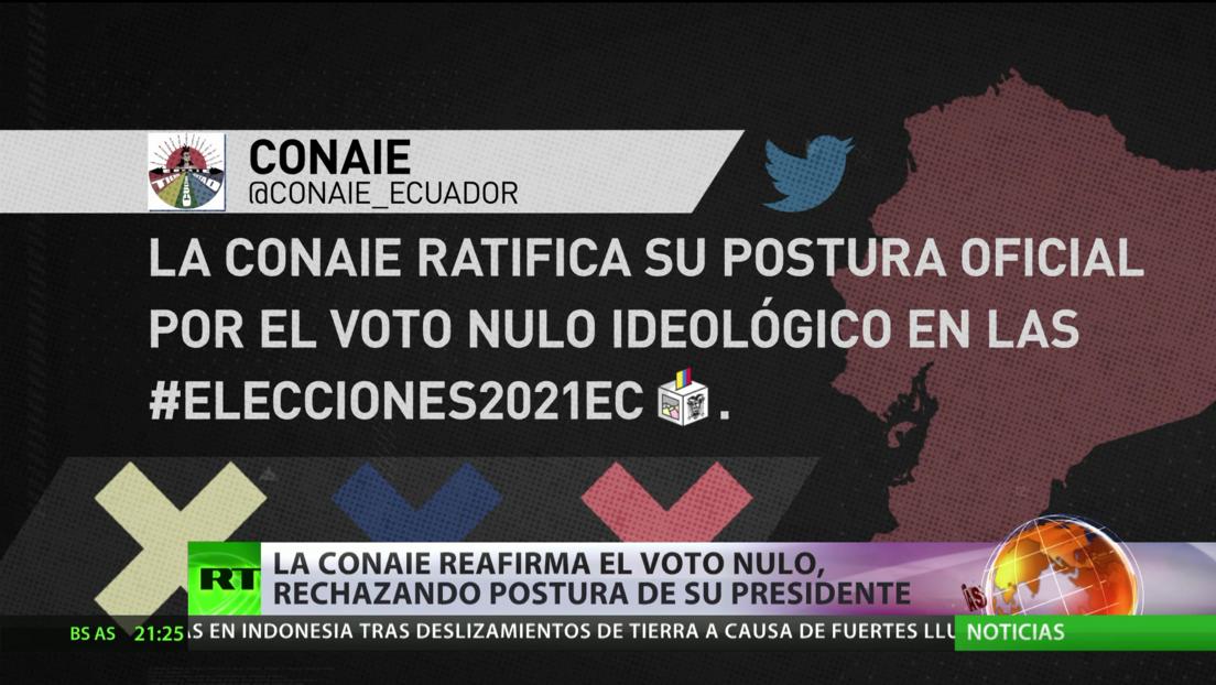 Ecuador: La CONAIE reafirma su postura por el voto nulo, rechazando la perspectiva de su presidente
