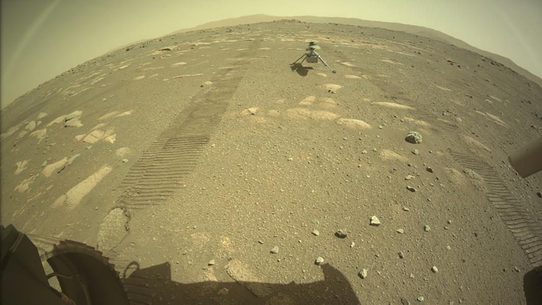 La NASA muestra el aterrizaje del helicóptero Ingenuity en la superficie de Marte