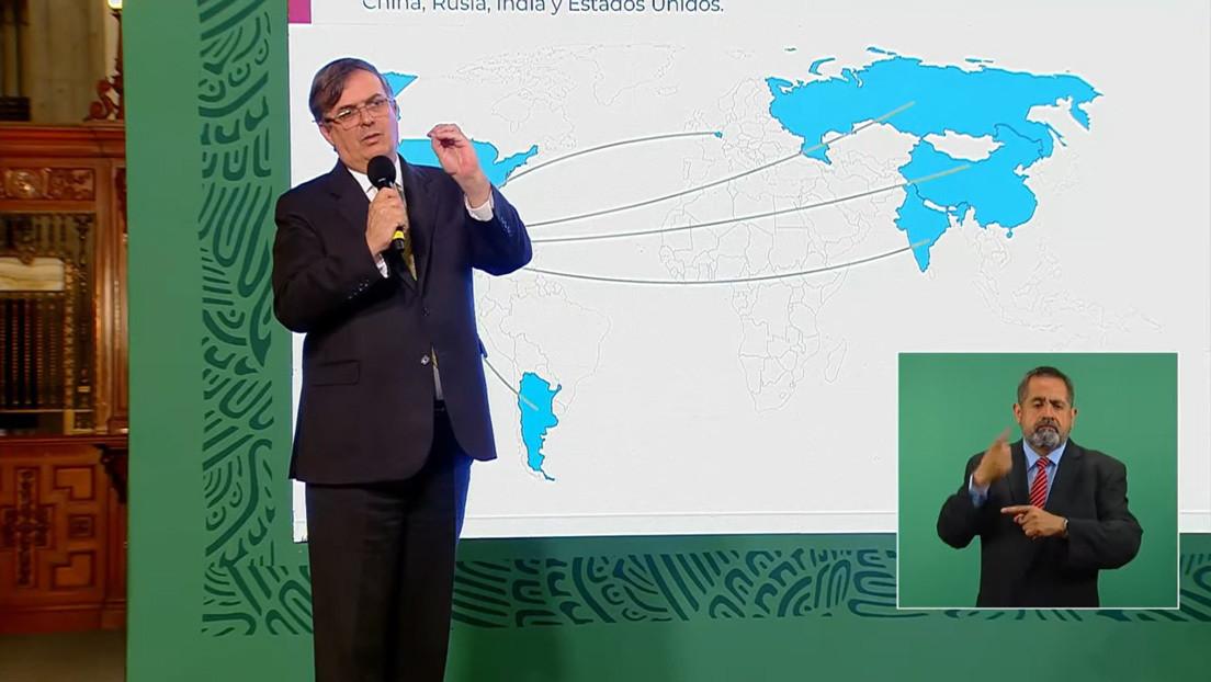 """Ebrard viajará a Rusia, China, India y EE.UU. para """"lograr que México tenga las vacunas acordadas en los tiempos acordados"""""""