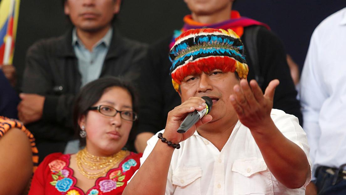 El movimiento Pachakutik de Ecuador expulsa de sus filas al líder de las protestas de octubre de 2019 por su apoyo a Arauz