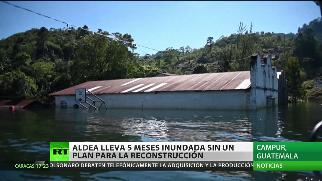 Una aldea de Guatemala lleva 5 meses inundada y sin planes de reconstrucción