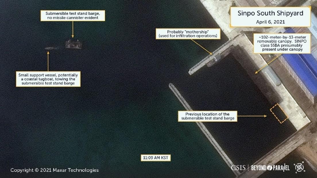 Imágenes satelitales sugieren que Corea del Norte podría estar preparando el ensayo de un misil balístico desde un submarino, según expertos de EE.UU.