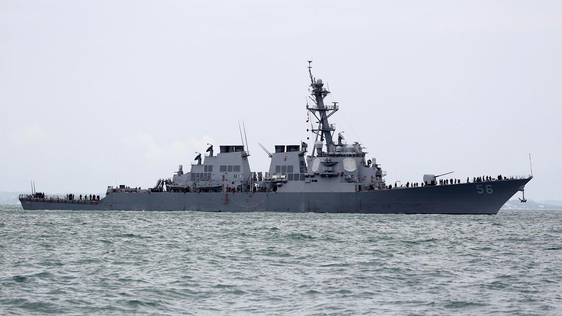 Un destructor de guerra estadounidense transita por el estrecho de Taiwán en medio de las tensiones con China