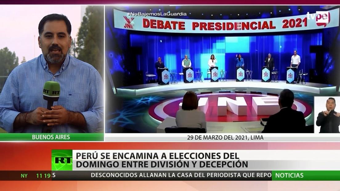 Perú se encamina a las elecciones presidenciales entre la división y la decepción