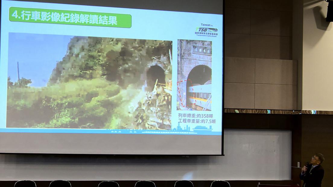 Momento exacto del choque del tren taiwanés que dejó decenas de muertos y cientos de heridos, desde la cabina del maquinista