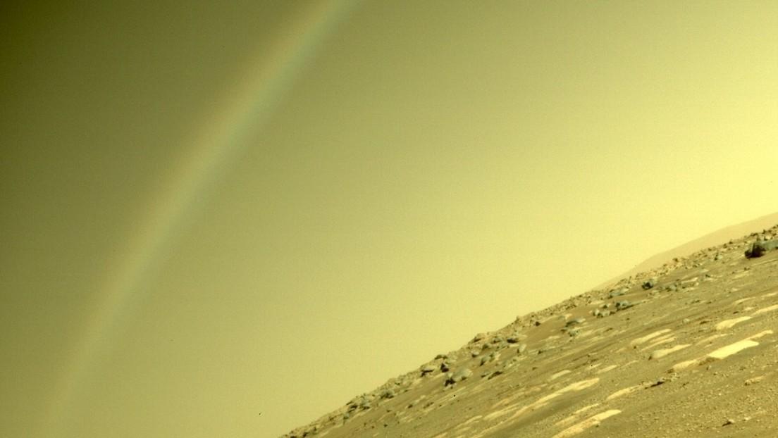 La NASA aclara el origen del inexplicable arcoíris captado por la misión Perseverance en Marte