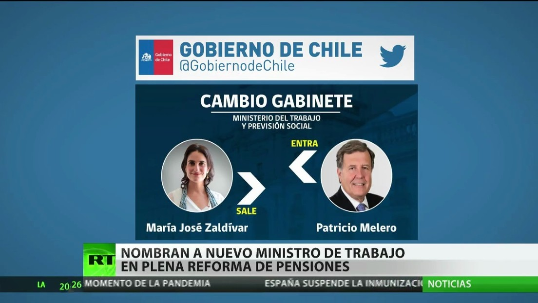 Nombran en Chile a un nuevo ministro del Trabajo en plena reforma de pensiones