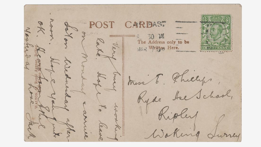 """""""Con amor, Jack"""": ponen a subasta una """"excepcional"""" postal firmada por un héroe del Titanic días antes de su hundimiento"""