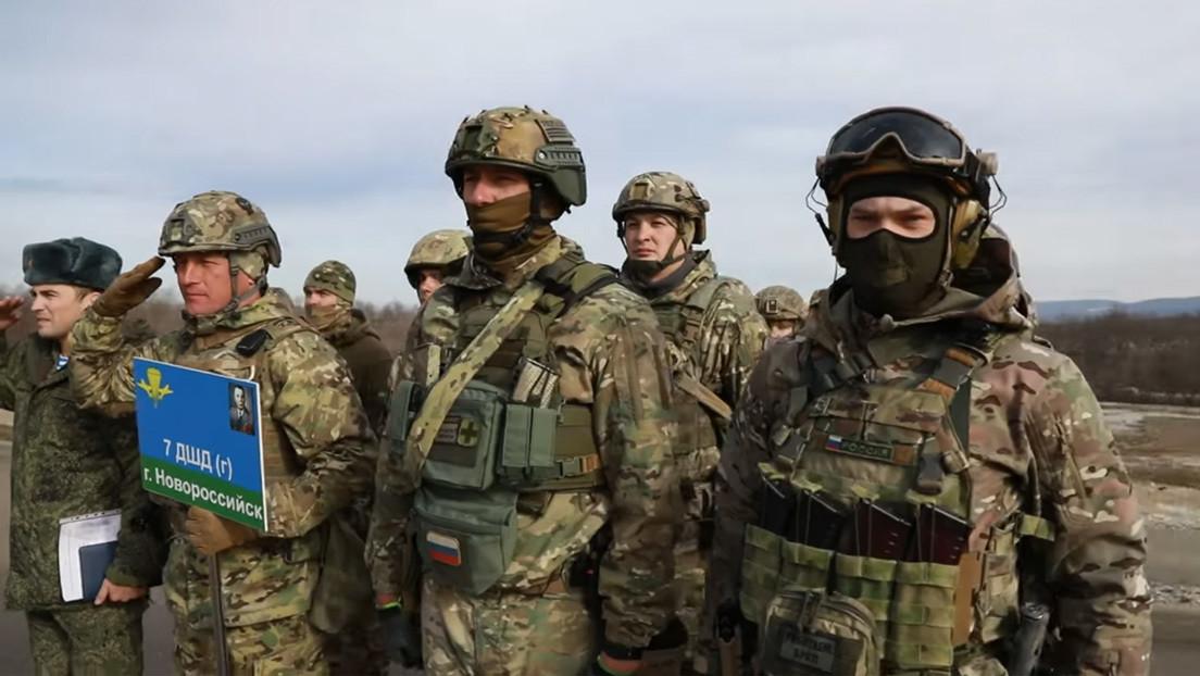 VIDEO: Las tropas aerotransportadas de Rusia muestran cómo se entrenan sus comandos