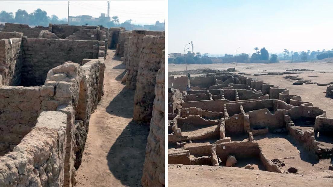 Hallan en Egipto una 'ciudad dorada perdida' de 3.000 años, en lo que sería el segundo descubrimiento más importante después de la tumba de Tutankamón