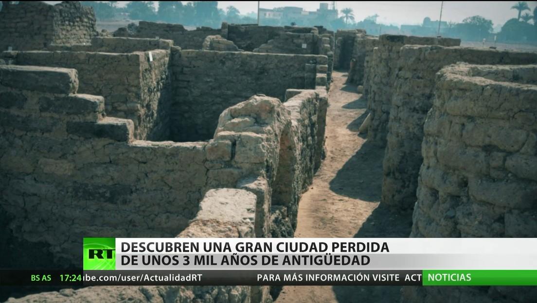 Descubren en Egipto una gran ciudad perdida de unos 3.000 años de antigüedad