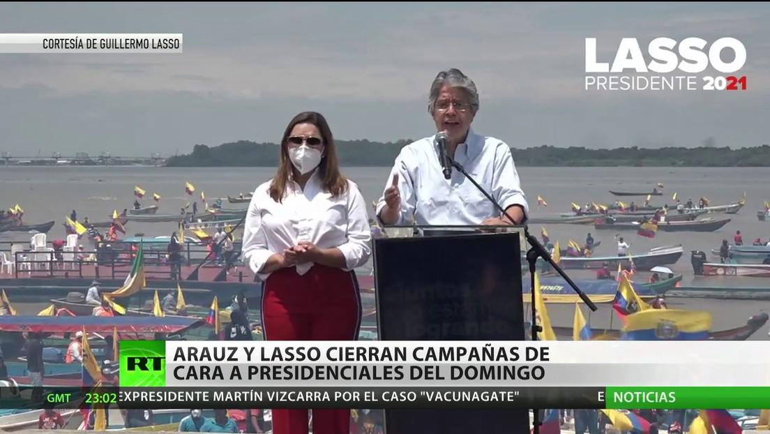 Ecuador: Arauz y Lasso cierran sus campañas de cara a las presidenciales del domingo