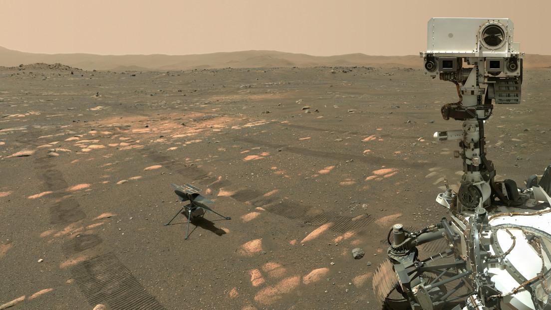 FOTO: El róver Perseverance se toma una selfi con el helicóptero Ingenuity antes de su primer vuelo en Marte