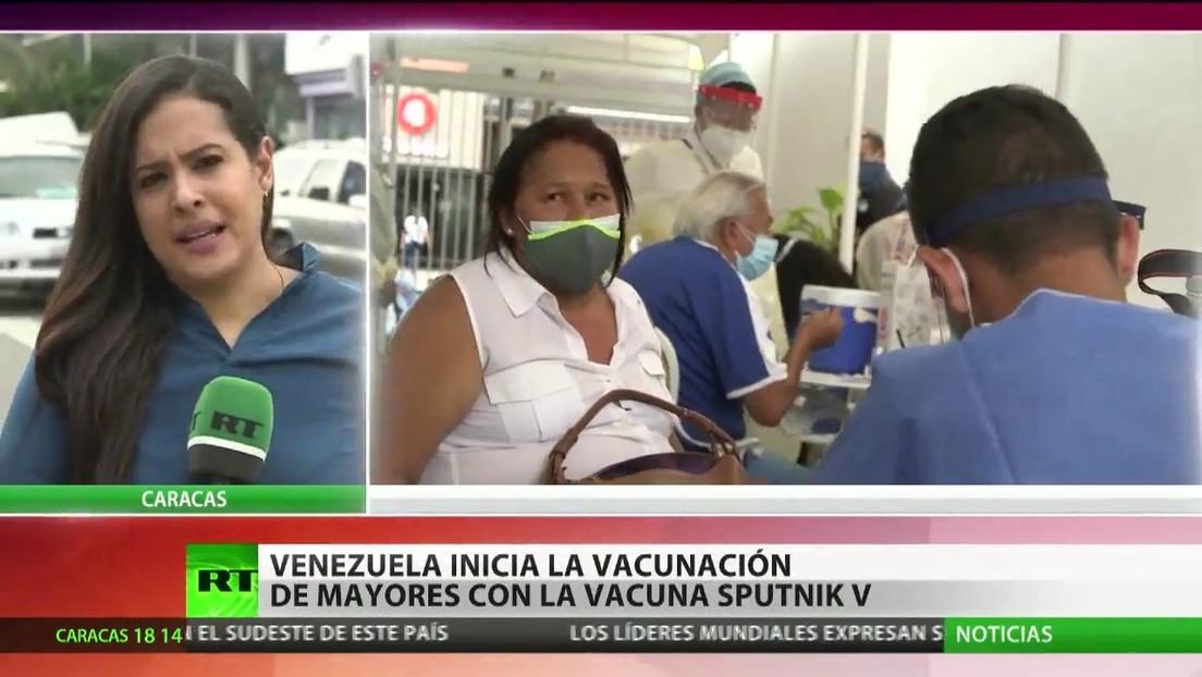 Venezuela inicia la inoculación de personas mayores con la vacuna Sputnik V