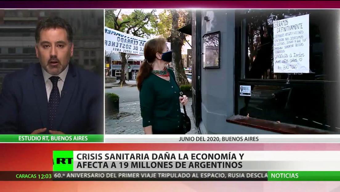La crisis sanitaria daña la economía y afecta a 19 millones de argentinos