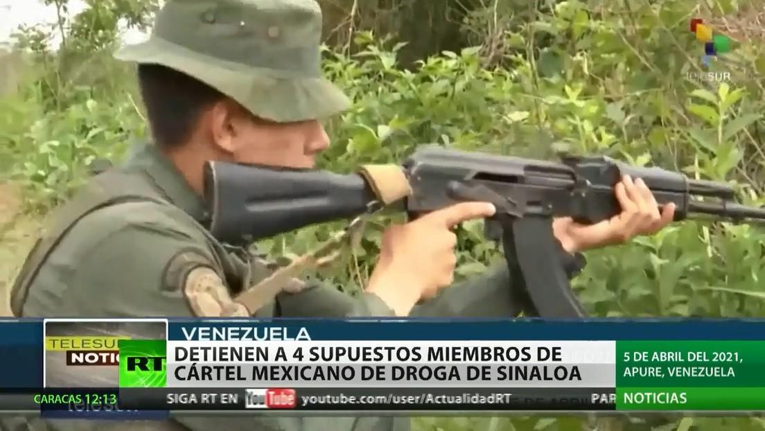 Detienen en Venezuela a 4 supuestos miembros del Cártel de Sinaloa