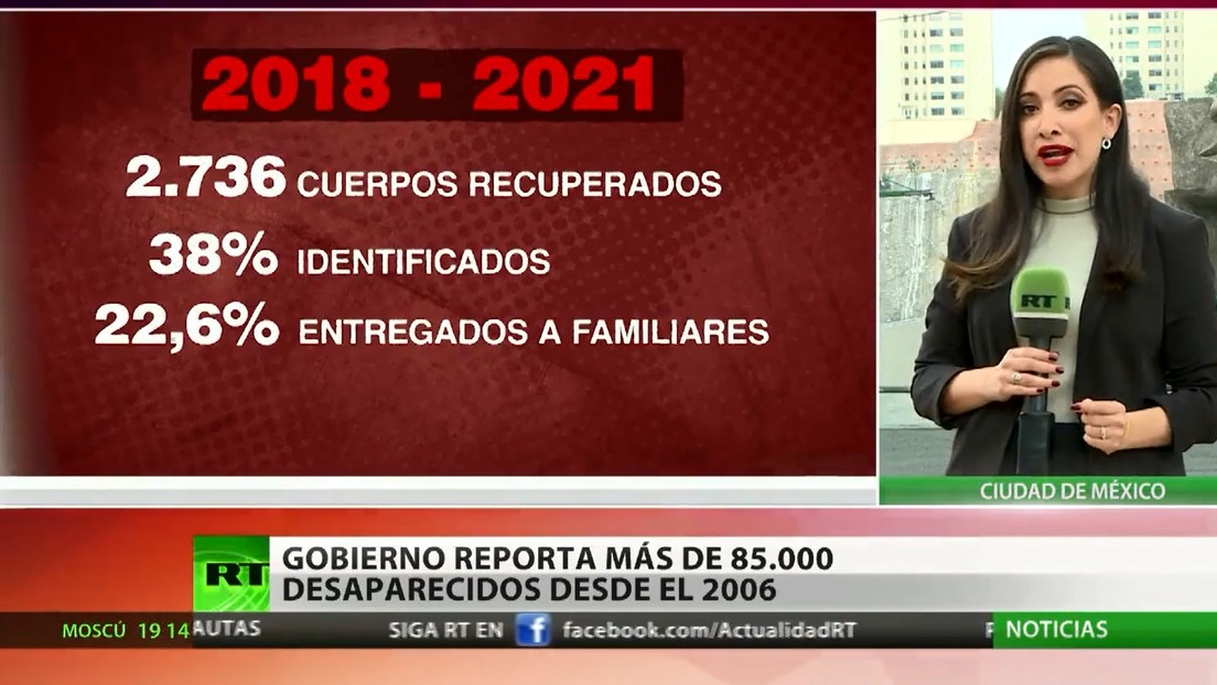 El Gobierno mexicano reporta más de 85.000 desaparecidos desde 2006