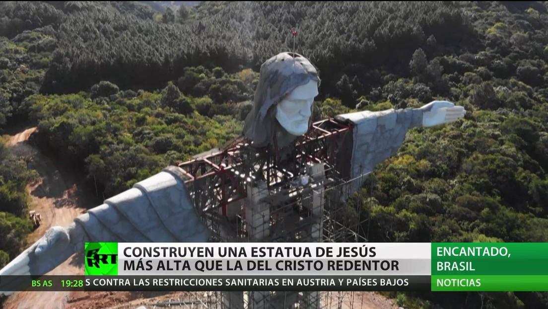 Construyen en Brasil una estatua de Jesús más alta de la del Cristo Redentor de Río de Janeiro