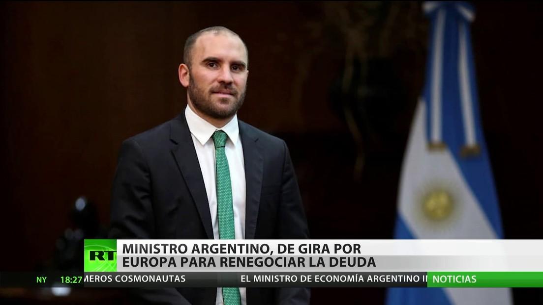 Ministro argentino, de gira por Europa para renegociar la deuda