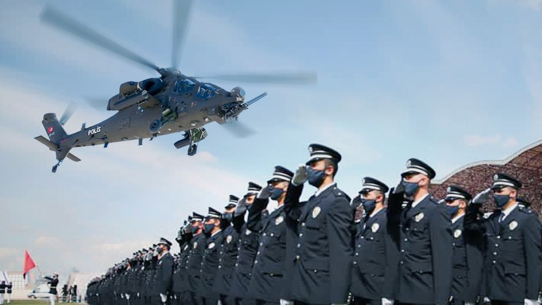 VIDEO: La Policía turca muestra en acción sus nuevos helicópteros de combate