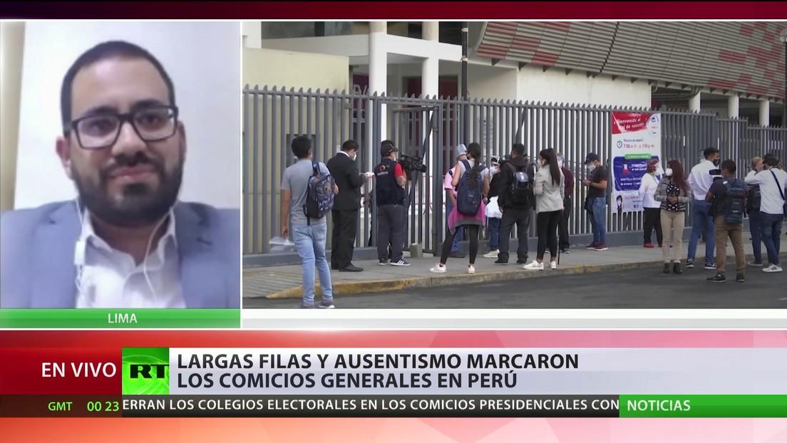 Resultados preliminares de las elecciones en Perú: Castillo lidera, pero habría una segunda vuelta
