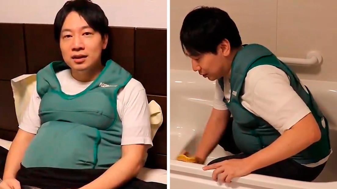 Congresistas japoneses portan 'panzas y pechos' de embarazada durante 24 horas para sentir en carne propia los problemas de las madres