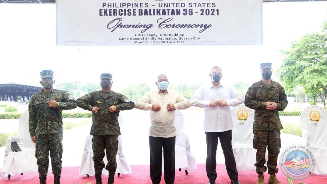 Filipinas y Estados Unidos inician unos ejercicios navales suspendidos hace un año