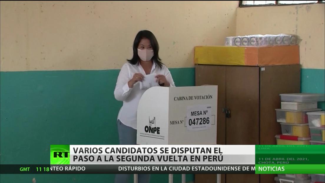 Varios candidatos se disputan el paso a la segunda vuelta en Perú