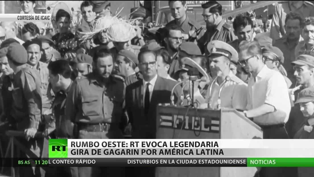 Rumbo oeste: RT evoca la legendaria gira de Yuri Gagarin por América Latina