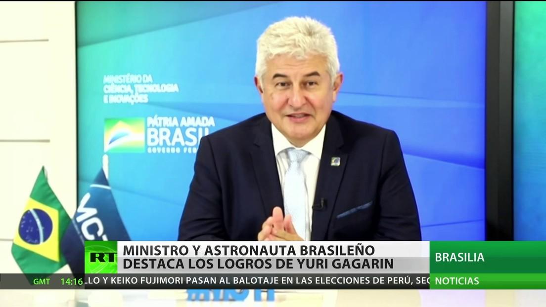 Ministro y astronauta brasileño destaca los logros de Yuri Gagarin