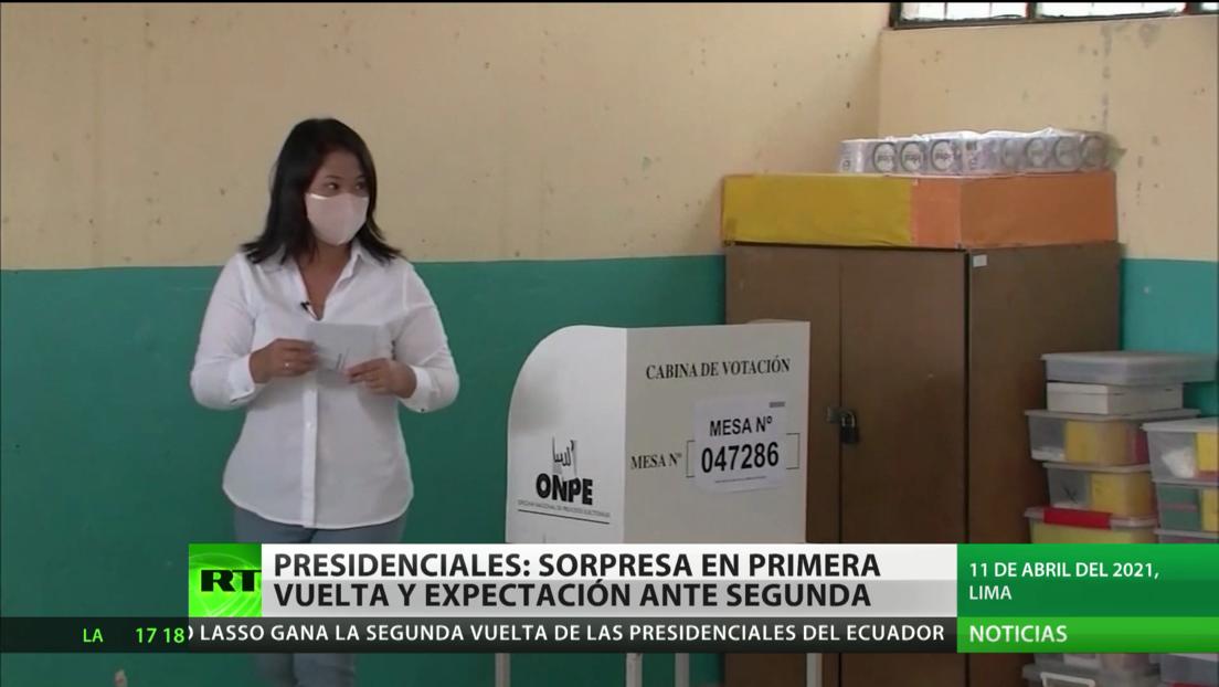 Elecciones presidenciales en Perú: sorpresa en primera vuelta y expectación ante la segunda