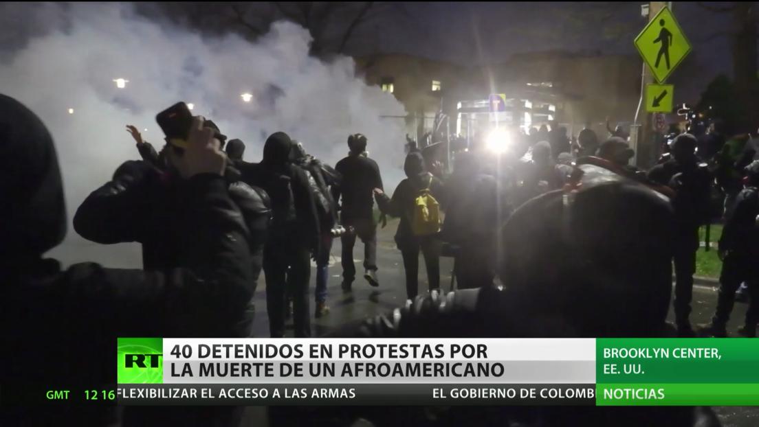 Decenas de detenidos en EE.UU. tras protestas por la muerte de un afroamericano baleado por una policía