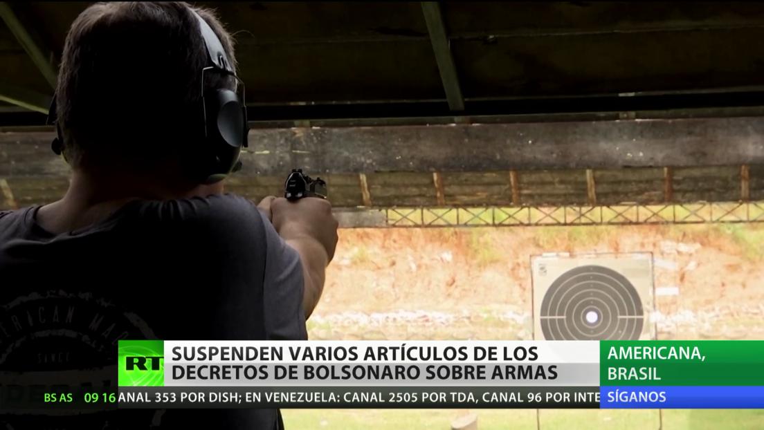 Suspenden varios artículos de los decretos de Bolsonaro que pretenden facilitar el acceso a armas en Brasil