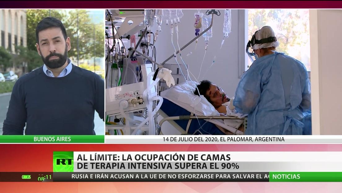 Argentina: La ocupación de camas de terapia intensiva supera el 90 %