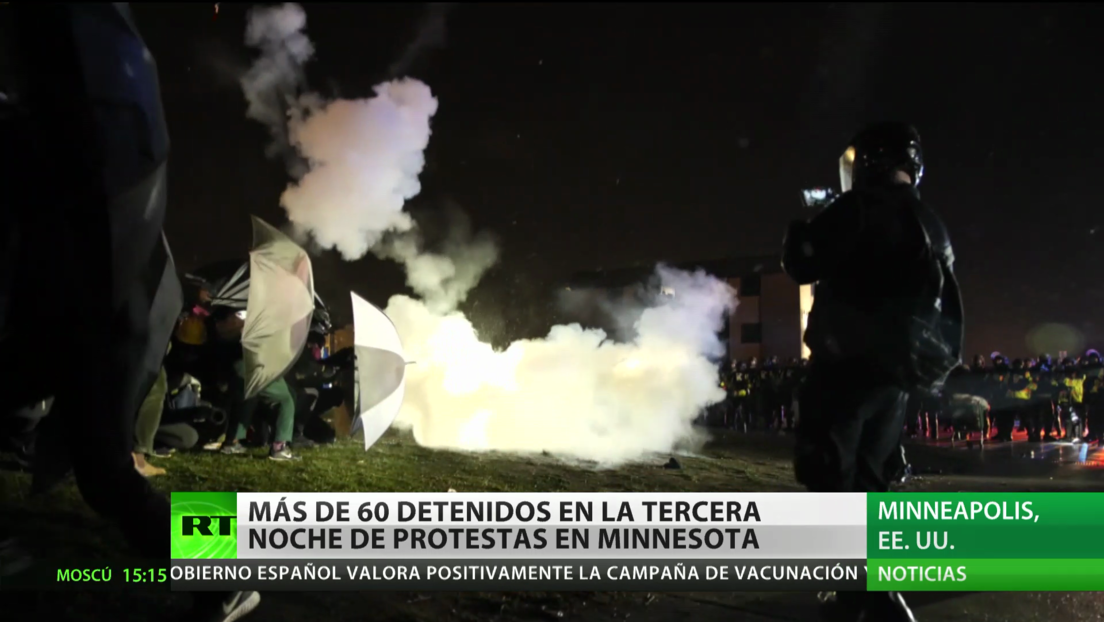 Más de 60 detenidos en la tercera noche de protestas en Minesota tras la muerte de Daunte Wright