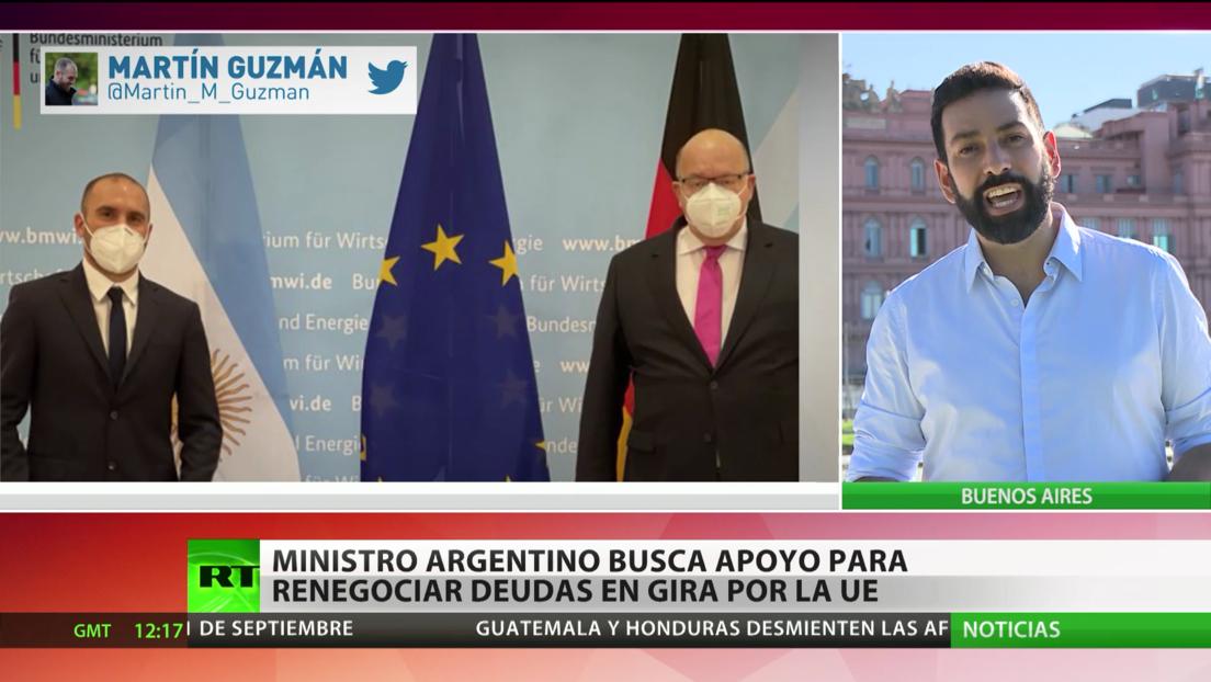 Ministro de Economía de Argentina busca apoyo para renegociar deudas en su gira por la UE