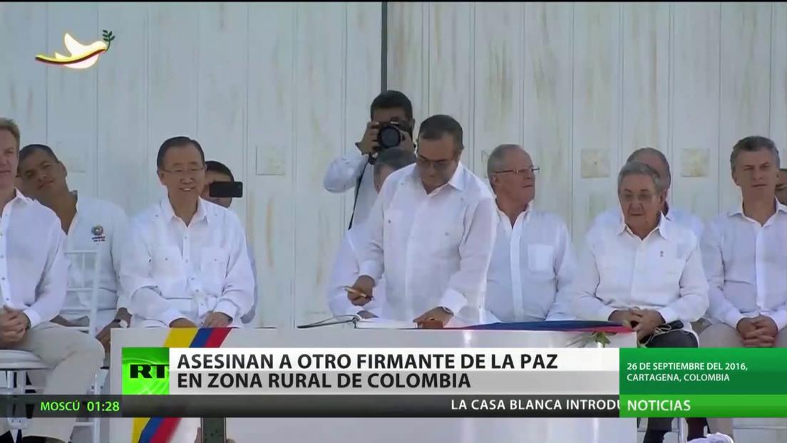 Asesinan a otro firmante del acuerdo de paz en una zona rural de Colombia