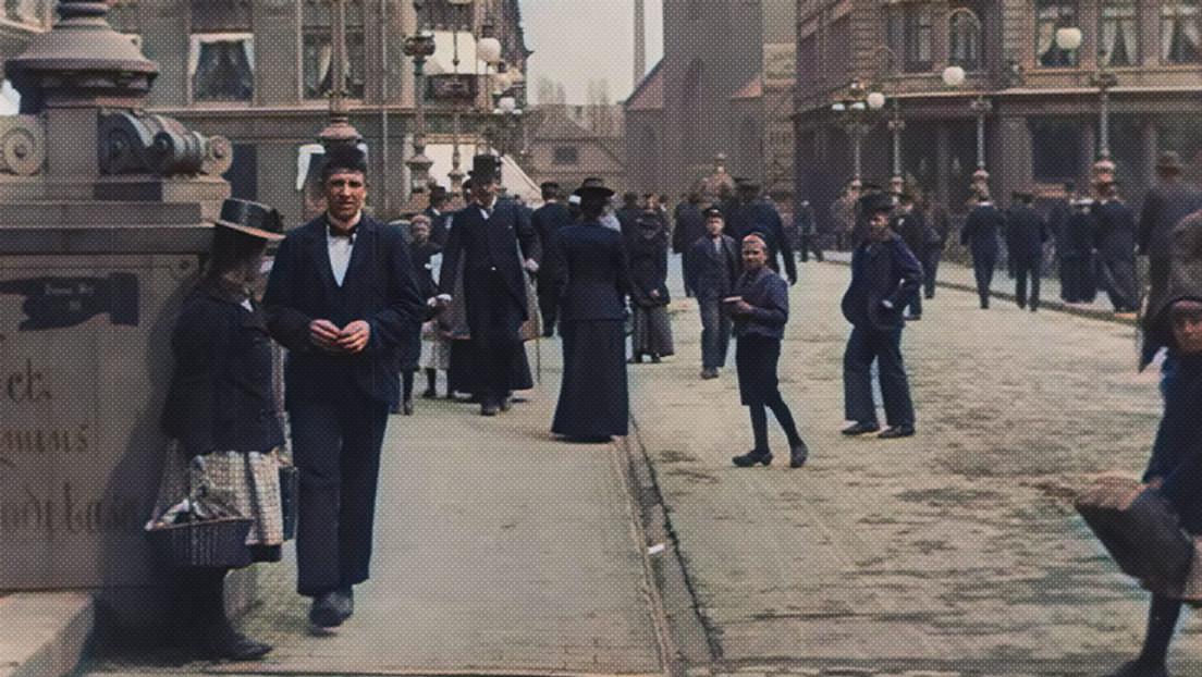 Restauran a color y en alta calidad raras imágenes de Dinamarca de hace más de un siglo (VIDEOS)