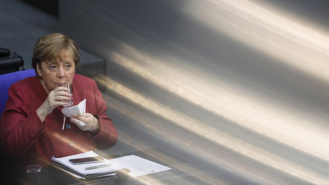 Angela Merkel recibe la primera dosis de la vacuna de AstraZeneca contra el coronavirus
