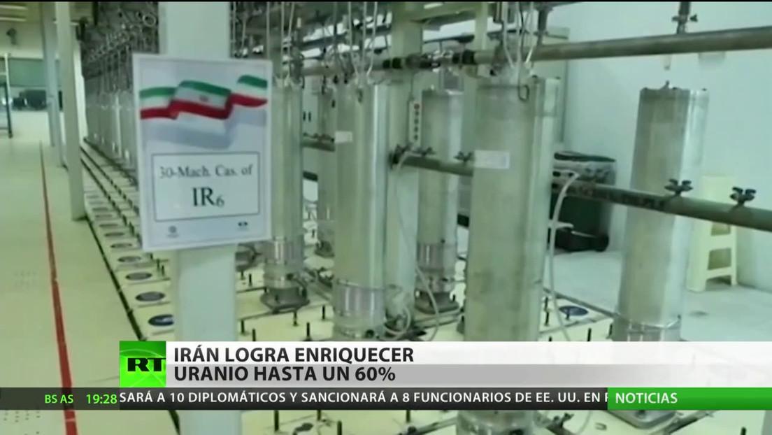 Irán anuncia que ya puede enriquecer uranio al 60 %