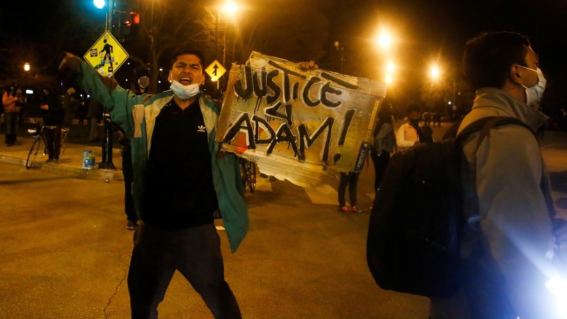 VIDEOS: Manifestantes se enfrentan con la Policía tras la muerte de un adolescente de 13 años que recibió un disparo de un oficial