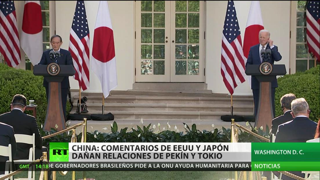 China: Comentarios de EE.UU. y Japón dañan las relaciones de Pekín y Tokio
