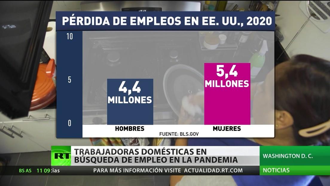Trabajadoras domésticas buscan empleo durante la pandemia en EE.UU.