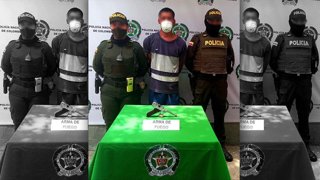 Detienen en Colombia a un delincuente que usaba una pistola de la Segunda Guerra Mundial para robar a sus víctimas