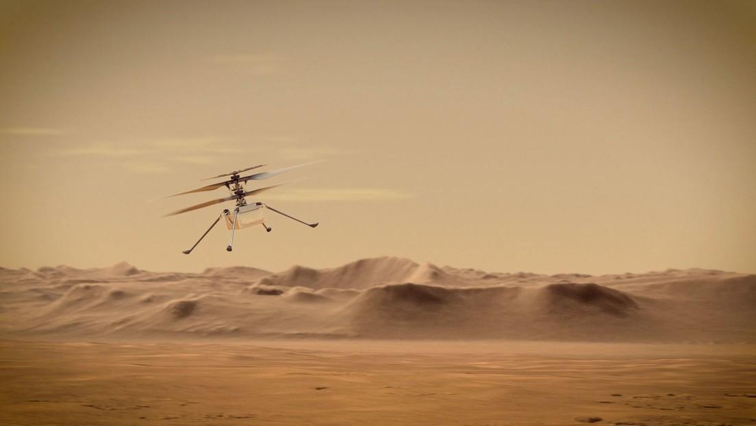 """""""Listo para hacer historia"""": El helicóptero Ingenuity de la NASA se prepara para sobrevolar este lunes la superficie de Marte"""