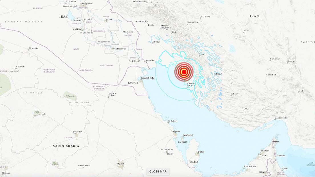 Se registra un sismo de magnitud 5,8 en Irán